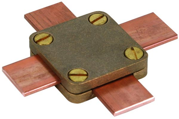 Copper rod to cable clamps tape type