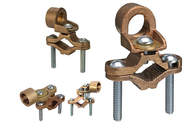 Brass pipe clamps earth bond clamp water