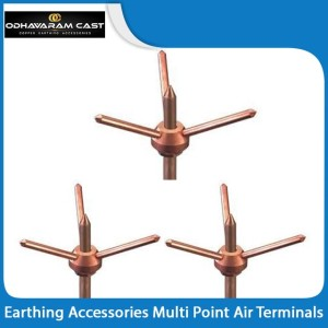 Earthing Accessories Multi Point Air Terminals